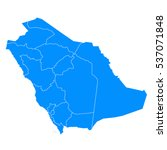 blue map of saudi arabia | Shutterstock .eps vector #537071848