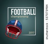 american football ball 3d... | Shutterstock .eps vector #537073984