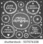 merry christmas lettering in...   Shutterstock .eps vector #537076108