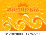 vector summer background with... | Shutterstock .eps vector #53707744