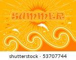 vector summer background with... | Shutterstock .eps vector #53707744