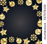 illustration christmas frame of ... | Shutterstock .eps vector #537078100