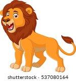 cartoon happy lion | Shutterstock . vector #537080164