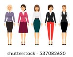 women in office clothes on... | Shutterstock .eps vector #537082630