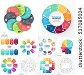 vector infographic set.... | Shutterstock .eps vector #537085024