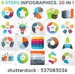 vector circle infographic set.... | Shutterstock .eps vector #537085036