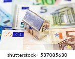 House Set On Euro Banknotes