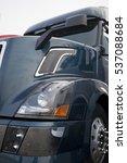 dark blue semi truck in front... | Shutterstock . vector #537088684
