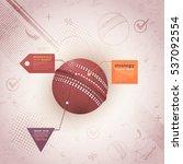 retro style cricket ball...