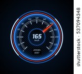 realistic car speedometer...   Shutterstock . vector #537094348