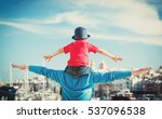 family travel   father and... | Shutterstock . vector #537096538