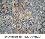 dried leaves and stone floor | Shutterstock . vector #537099820
