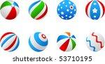 vector beach balls | Shutterstock .eps vector #53710195