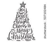 merry christmas phrases  hand... | Shutterstock .eps vector #537102484