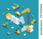 isometric 3d building of... | Shutterstock .eps vector #537103546