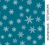 seamless pattern with snowflakes | Shutterstock .eps vector #537104194
