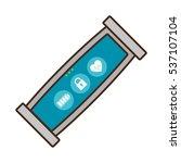 smart bracelet wearable sport... | Shutterstock .eps vector #537107104