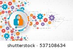 protection concept. protect... | Shutterstock .eps vector #537108634