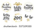 christmas holidays hand... | Shutterstock . vector #537109330