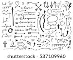 hand drawn vector arrows set. | Shutterstock .eps vector #537109960