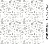 social media sketch vector... | Shutterstock .eps vector #537112960