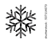 winter snowflake icon over... | Shutterstock .eps vector #537114073