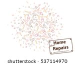 home repairs abstract...   Shutterstock .eps vector #537114970