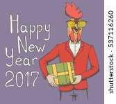 new year of the rooster vector... | Shutterstock .eps vector #537116260