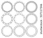 hand drawn round frames ... | Shutterstock .eps vector #537117346