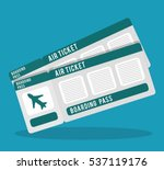 boarding pass icon image vector ... | Shutterstock .eps vector #537119176