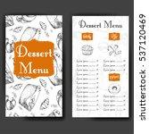 template for dessert menu with... | Shutterstock .eps vector #537120469