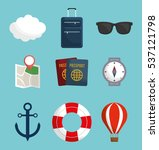 travel related icons image... | Shutterstock .eps vector #537121798