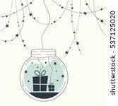 the cover design. christmas... | Shutterstock .eps vector #537125020