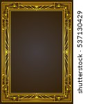 golden metallic rectangular... | Shutterstock .eps vector #537130429