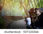 rickshaw for sightseeing at...   Shutterstock . vector #537133366