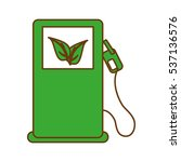 eco pump with leaves icon over... | Shutterstock .eps vector #537136576