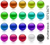 collection of colorful glossy... | Shutterstock .eps vector #53713675