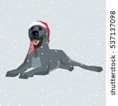 vector polygon dog collection....   Shutterstock .eps vector #537137098
