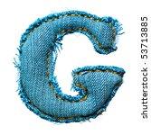 handmade letter of jeans... | Shutterstock . vector #53713885
