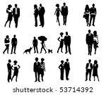 couples | Shutterstock .eps vector #53714392
