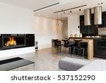 minimalist elegant living room... | Shutterstock . vector #537152290