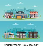 colorful countryside horizontal ... | Shutterstock .eps vector #537152539