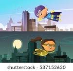 Kids Superhero Two Flat...