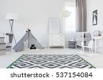 black and white baby boy room... | Shutterstock . vector #537154084