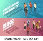 horizontal isometric... | Shutterstock .eps vector #537155134