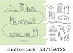 vector illustration ecology... | Shutterstock .eps vector #537156133