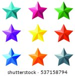 stars material colors  vector...