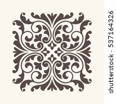 vintage ornament for design. | Shutterstock .eps vector #537164326
