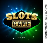 slots game casino banner element | Shutterstock .eps vector #537164398