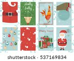 holiday themed patterns. merry... | Shutterstock .eps vector #537169834